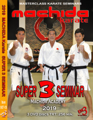 MACHIDA Karate SUPER-3-SEMINAR 2019 - One Day Three Seminars (3 DVD Set)