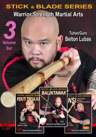 Belton Lubas DVD Series - PEKITI TIRSIA KALI - BALINTAWAK - NSI ( Vol-1, 2 & 3 DVD Set)