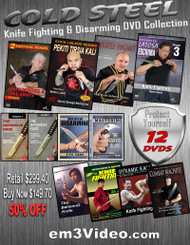 COLD STEEL - Knife Fighting & Disarming Collection 12 DVDs (50% OFF)  by the top Martial Art Masters