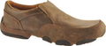 Men's Driving Mocs Slip on D Toe   Color:Bomber