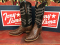 Tony Lama Chocolate Ostrich CT840