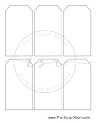 Double Sided Tag Template Instant Download