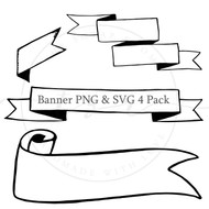 Banner 4 Pack - svg and png set