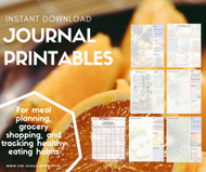 Bullet Journal Printables - Meal Planning Set - Download / Printable set