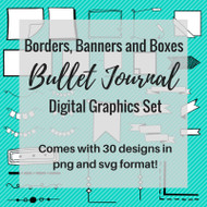 Banners Borders and Boxes Bullet Journal Graphics Set