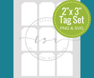 "2"" x 3"" Digital Tag Template"
