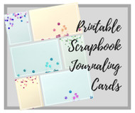 Printable Journaling Cards for Scrapbooking -- Bling-ed out Sequin edition