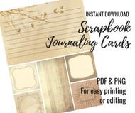 Printable Journaling Cards for Scrapbooking -- Vintage 2