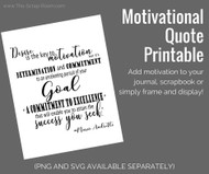 Motivational Quote Printable Word Art- Mario Andretti - Instant Download - PDF