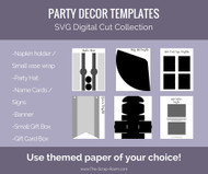 Party Decor Digital Templates Set