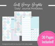 "Printable Planner - 30 mix & match ""Daily"" printable journal pages - Instant Download PDF Bujo / bullet journal printables"