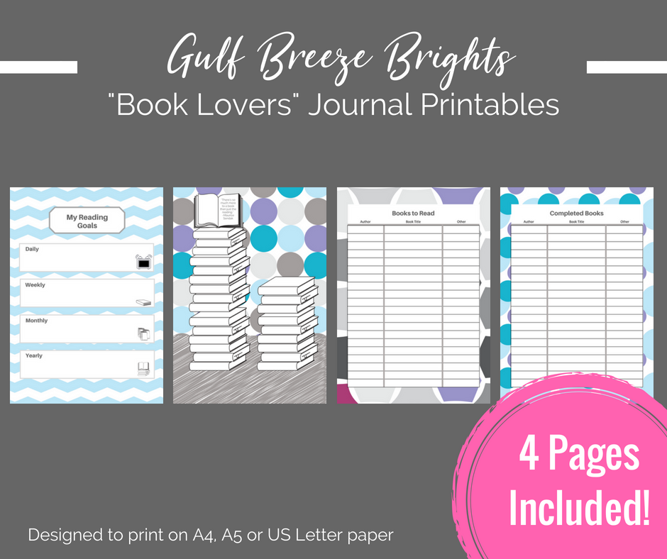 photograph relating to Printable Journal Pages Pdf identified as Printable Planner - Reserve Fans / Bibliophile printable magazine web pages - Quick Down load PDF Bujo / bullet magazine printables
