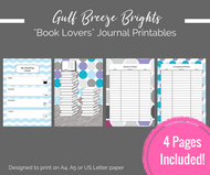 Printable Planner - Book Lover's / Bibliophile printable journal pages - Instant Download PDF Bujo / bullet journal printables