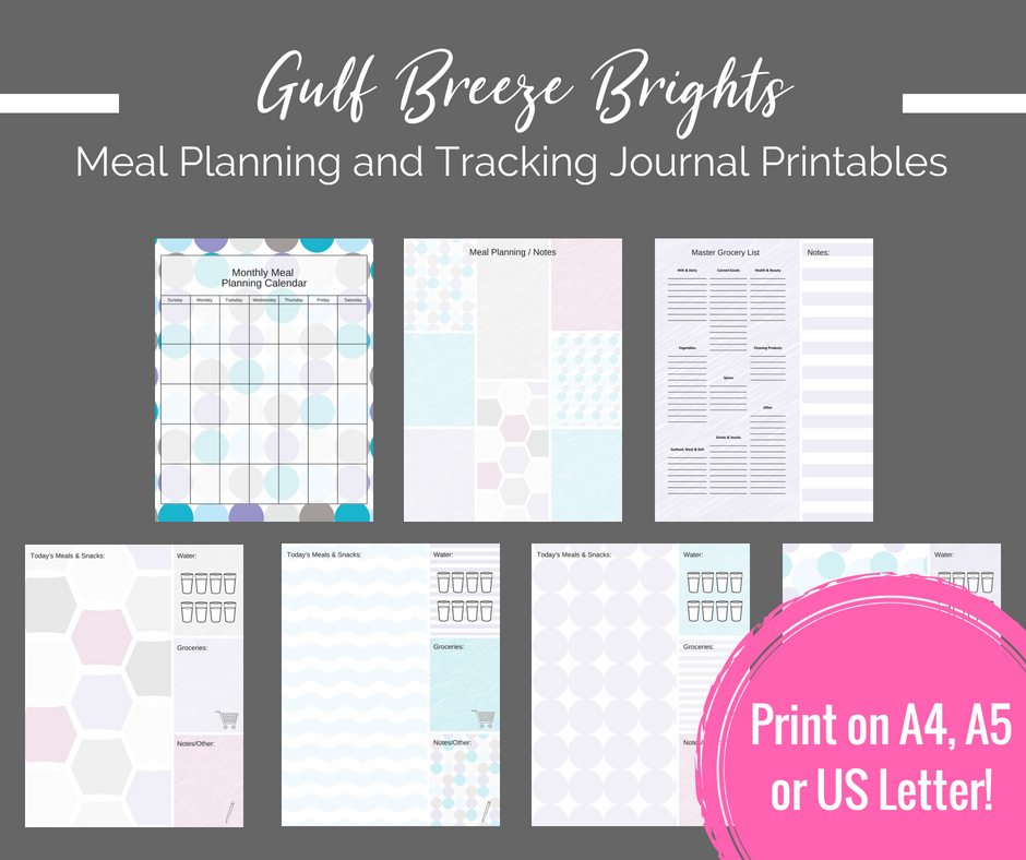 picture regarding Printable Journal Pages identify Printable Planner - Evening meal Coming up with / Monitoring printable magazine internet pages - Immediate Obtain PDF Bujo / bullet magazine printables