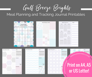 Printable Planner - Meal Planning / Tracking printable journal pages - Instant Download PDF Bujo / bullet journal printables