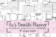 Printable Planner Inserts - Vic's Journal