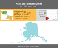 Alaska State Digital Graphics Set
