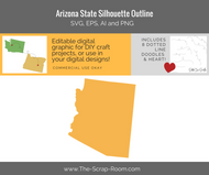 Arizona State Digital Graphics Set