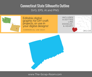 Connecticut State Digital Graphics Set