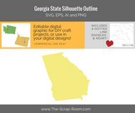 Georgia State Digital Graphics Set