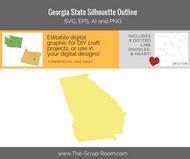 Georgia State Digital Graphics Set
