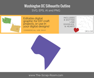 Washington DC - District of Columbia -  Digital Graphics Set