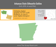 Arkansas State Digital Graphics Set