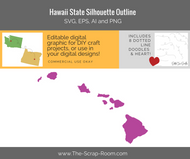 Hawaii State Digital Graphics Set