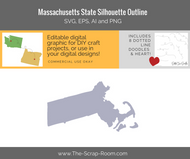 Massachusetts State Digital Graphics Set