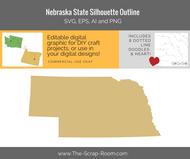 Nebraska State Digital Graphics Set