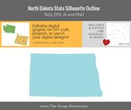 North Dakota State Digital Graphics Set