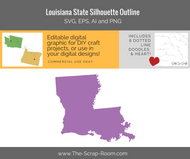 Louisiana State Digital Graphics Set