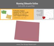 Wyoming State Digital Graphics Set