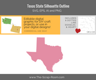 Texas State Digital Graphics Set