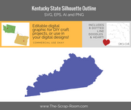 Kentucky State Digital Graphics Set