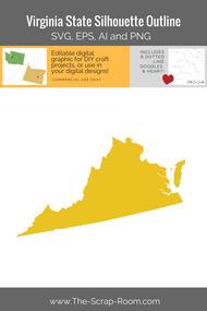 Virginia State Digital Graphics Set