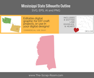 Mississippi State Digital Graphics Set