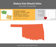 Oklahoma State Digital Graphics Set