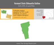 Vermont State Digital Graphics Set