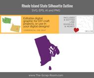 Rhode Island State Digital Graphics Set