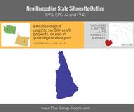 New Hampshire State Digital Graphics Set
