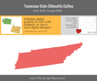 Tennessee State Digital Graphics Set