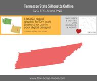 Tennessee State Digital Graphics Set