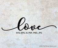 Love - High Quality Vector graphic in eps, svg ai, png and jpg formats-for scrapbooking and crafts &DIY
