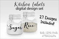 UPDATED!!! Kitchen Labels Basics SVG Bundle >>41 design set<< Instant Download-Vector graphics in eps, svg, and png -for crafts & DIY
