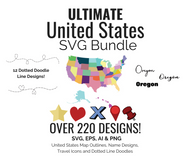 United States SVG Bundle Digital Graphics Set- All 50 US States plus Washington DC
