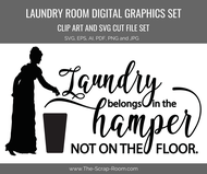 Laundry Room Regency / Jane Austen Graphics Set - Clip art and & digital cut file bundle