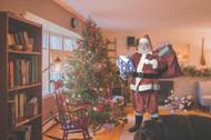 Custom Santa Claus Printable Photo / Christmas Printable Photo - Sneak a pic of SANTA visiting YOUR home!