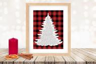 Twas the Night Before Christmas Printable Tree Art - Traditional / Red Plaid -   Printable Christmas Wall Art for home decor and DIY Gifts