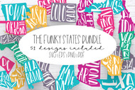 United States SVG Bundle - Whimsical Funky State designs
